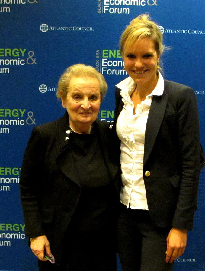 Meike Neitz with Madeleine Albright