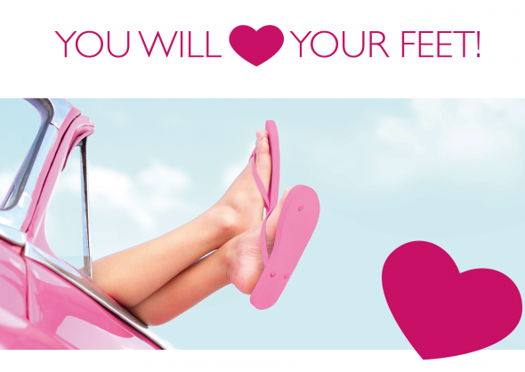 ": ""You will love your feet!"""